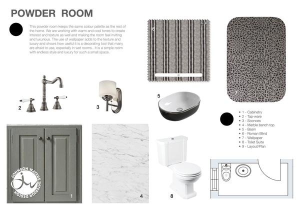 Powder Room Story Board