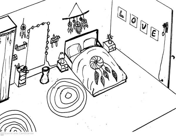 Décoration chambre petite ado