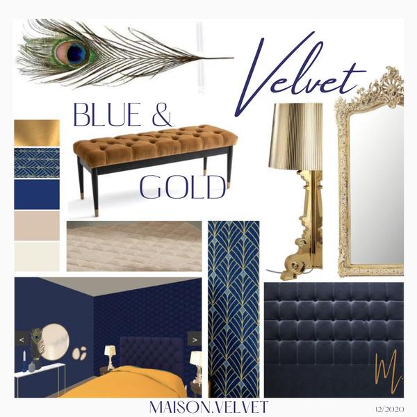 Projet BLUE & GOLD VELVET 12/2020