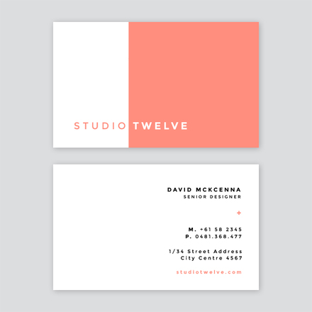 Illustrator business card split block color business card reheart Image collections