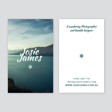 Photographer business card business card portrait fbccfo Choice Image