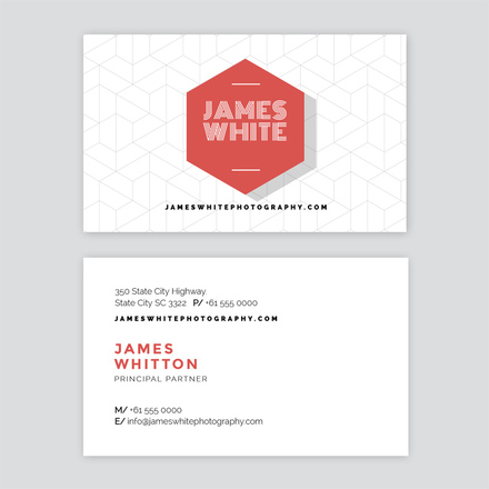 Hexagon Logo Photographer Business Card