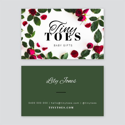 Rose Border Business Card