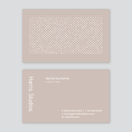 Spotty Pattern Taupe & White Business Card