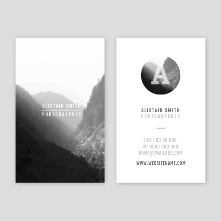 Photographer Business Card - Portrait business card template