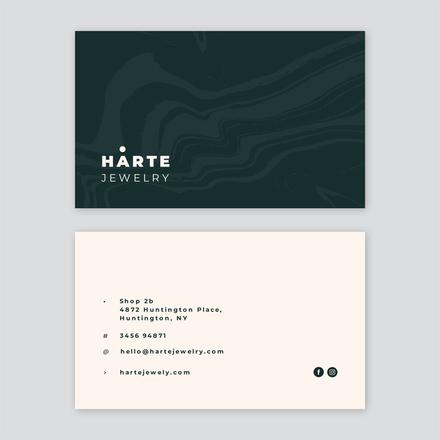 Organic Swirl Textured Business Card