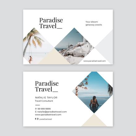 Diamond Image Shapes Business Card