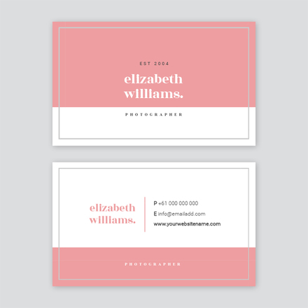 Split block color business card reheart Image collections