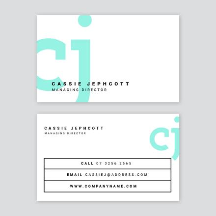 Simple Logo Corporate Business Card