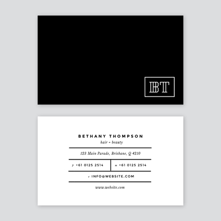 Hair and beauty business card colourmoves Image collections
