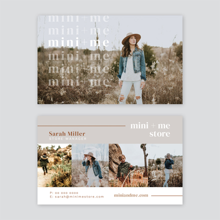 Fashion Store Quad Image Layout Business Card