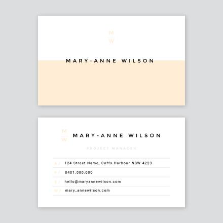 Split Block Color Corporate / Business Card