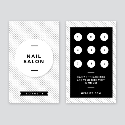 nail salon loyalty card. Black Bedroom Furniture Sets. Home Design Ideas