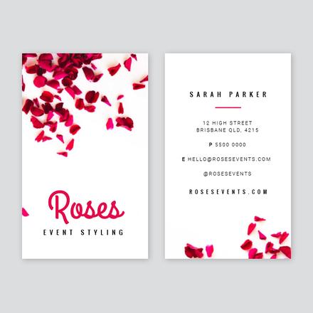 Petal Event Stylist Business Card Template