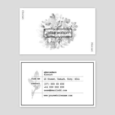 Mono Florist Business Card
