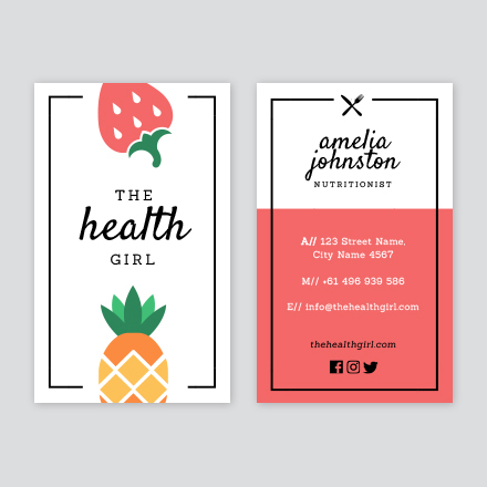 Nutritionist business card colourmoves