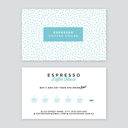 Espresso Coffee House Loyalty Stamp Card - Loyalty stamp card template