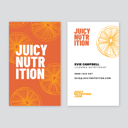 Orange Yellow Hand Drawn Nutritionist