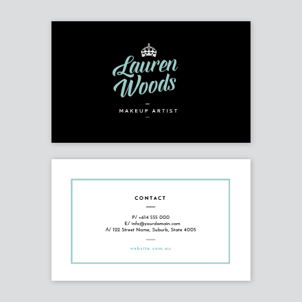 modern girly business card - Girly Business Cards