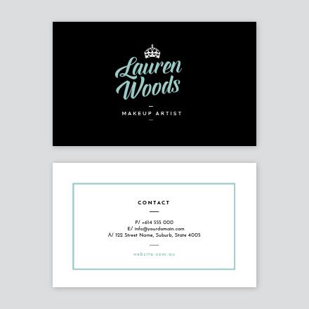 Modern Girly Business Card