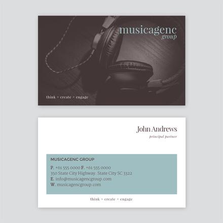 Musicagenc Business Card