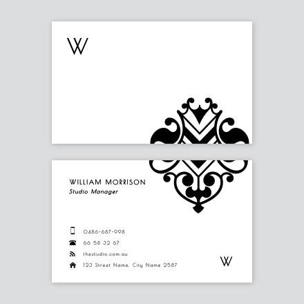 Elegant Mono Business Card
