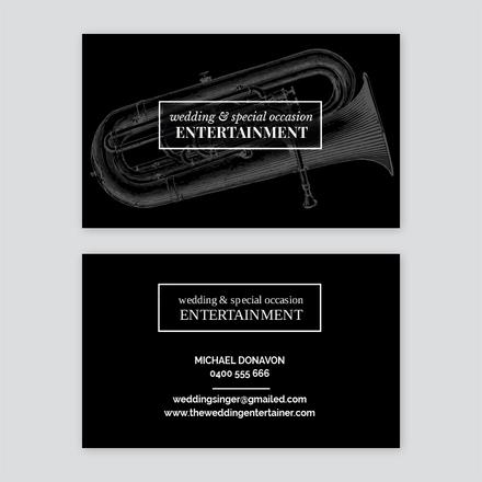 Live Entertainment Business Card