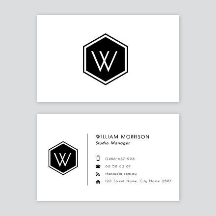 Hexagon Logo Business Card