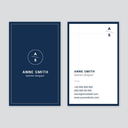 Block Blue Business Card