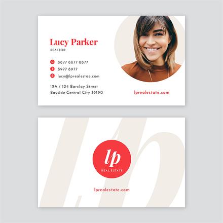 Circle Profile Image Business Card Template