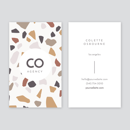Simple Terrazzo Background Card Template