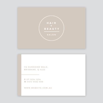Hair + beauty business card