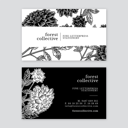 Floral Mono Business Card