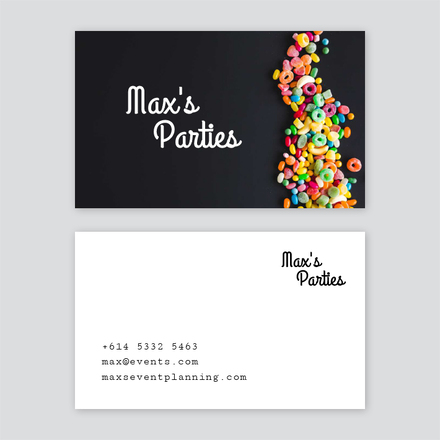 Party planning business card colourmoves Images
