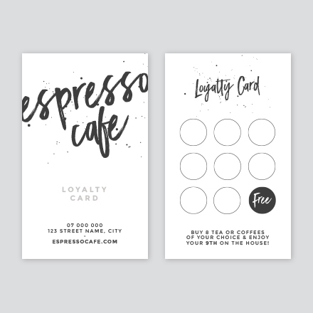 Espresso Cafe Loyalty Card