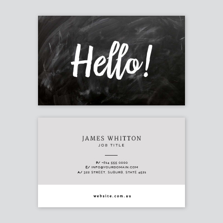 Hello Chalky Business Card