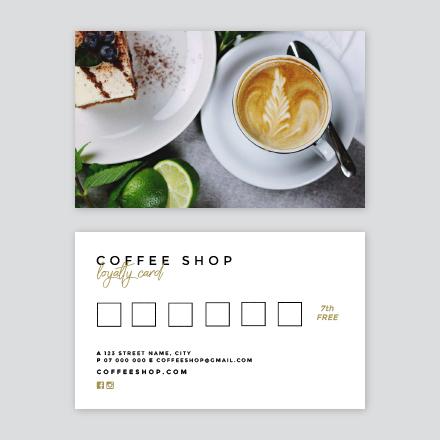 Coffee Shop Loyalty Card