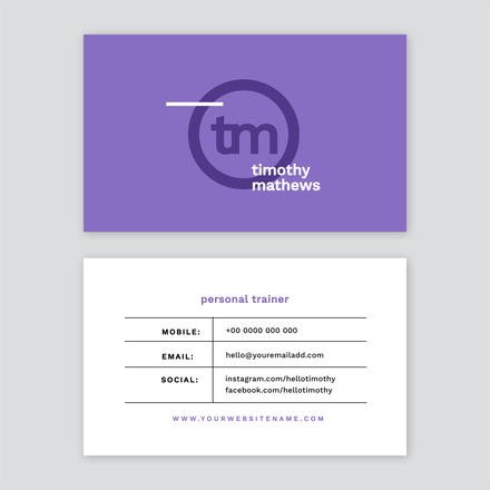Solid Colour with Lettermark Logo