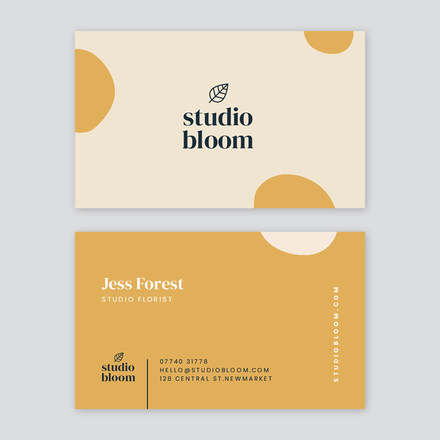 Mustard and Cream Business Card