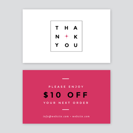 Minimalistic Thank you card