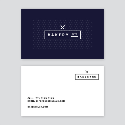 Bakery Store Business Card