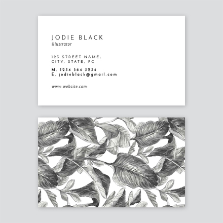 Black and White Illustrator Business Card