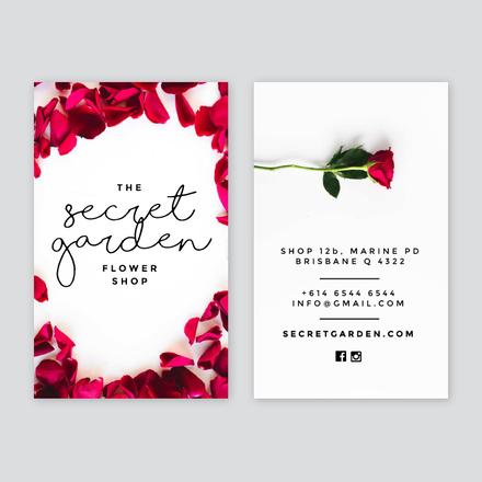 Rose Petal Business Card