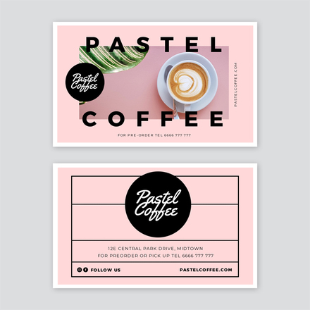 Pastel Coffee Business Card