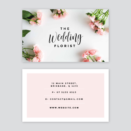 The wedding florist business card fbccfo