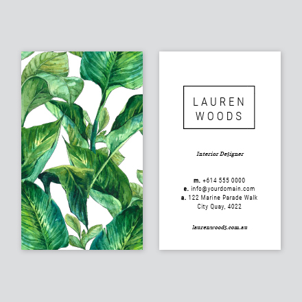 tropical business card design