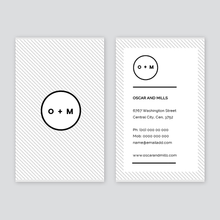 Striped Business Card