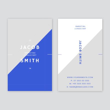 Diagonal Split Business Card