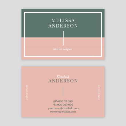 Split Block Color Business Card