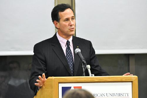 Santorum speaks at AU, says 2012 bid is possible